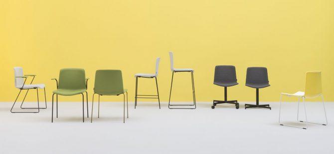 oblazinjeni stoli, kovinski stoli, plastični stoli
